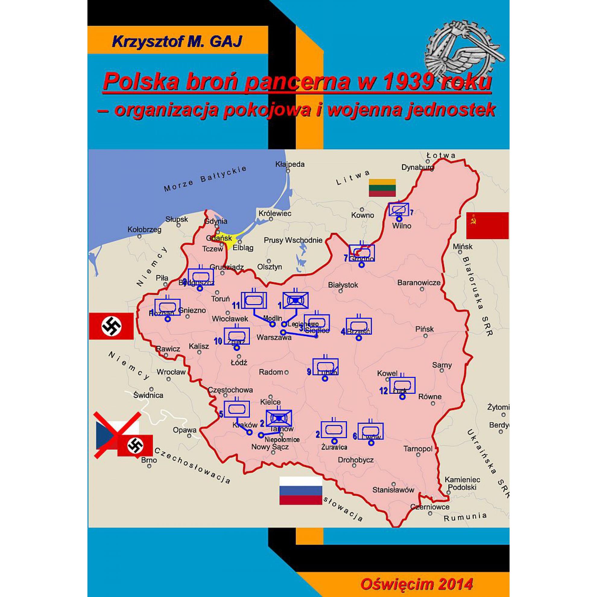 Polska broń pancerna w 1939 r. – Organizacja pokojowa i wojenna jednostek